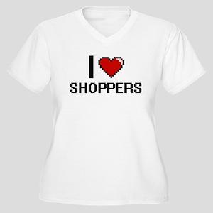 I Love Shoppers Digital Design Plus Size T-Shirt