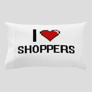 I Love Shoppers Digital Design Pillow Case