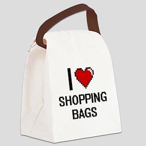I Love Shopping Bags Digital Desi Canvas Lunch Bag