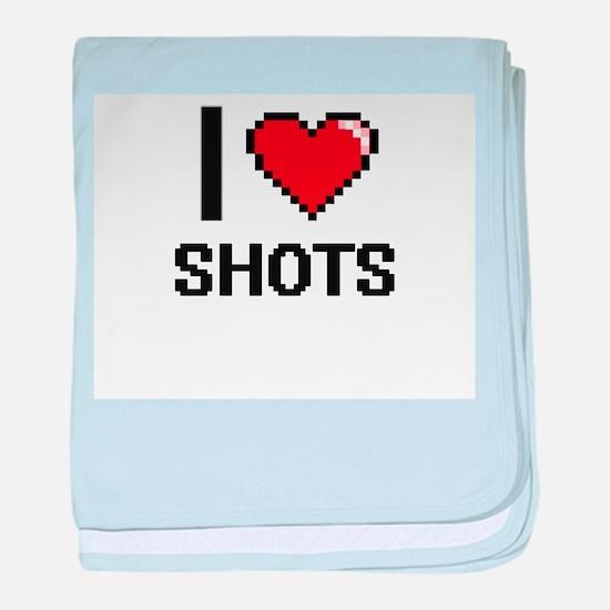 I Love Shots Digital Design baby blanket