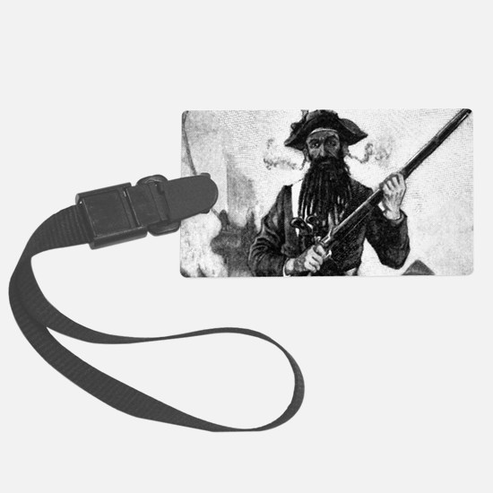Blackbeard at attention with rif Luggage Tag