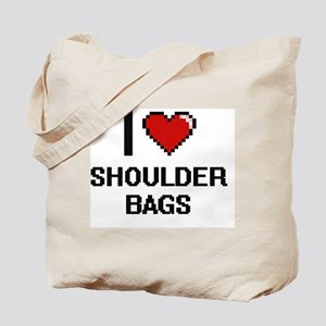 I Love Shoulder Bags Digital Design Tote Bag