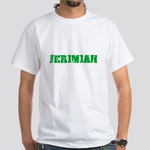 Jerimiah Name Weathered Green Design T-Shirt