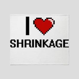 I Love Shrinkage Digital Design Throw Blanket