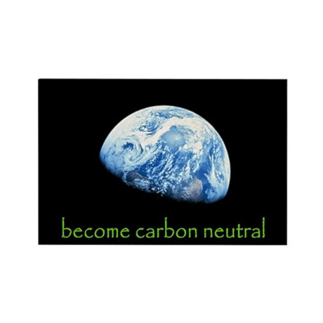 become carbon neutral Rectangle Magnet