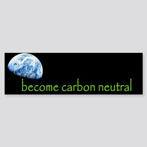 become carbon neutral Bumper Sticker