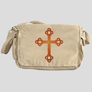 labyrinth cross Messenger Bag