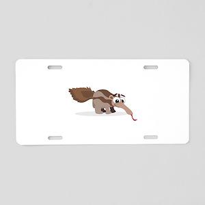 Anteater Cartoon Aluminum License Plate
