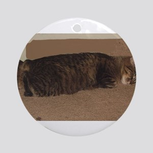 manx sleeping Round Ornament