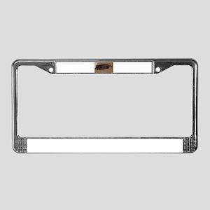 manx sleeping License Plate Frame