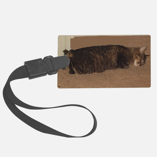 manx sleeping Luggage Tag
