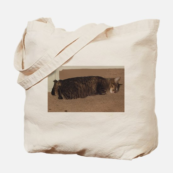 manx sleeping Tote Bag