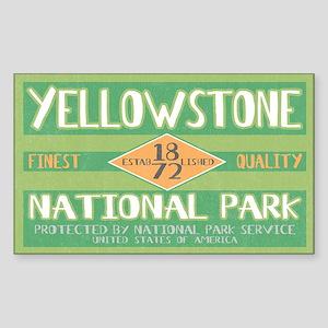 Yellowstone National Park (Retro) Sticker (Rectang