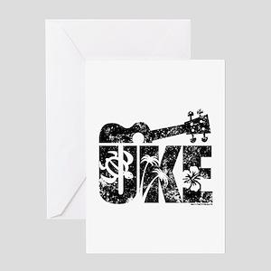 Uke Ukulele Greeting Cards