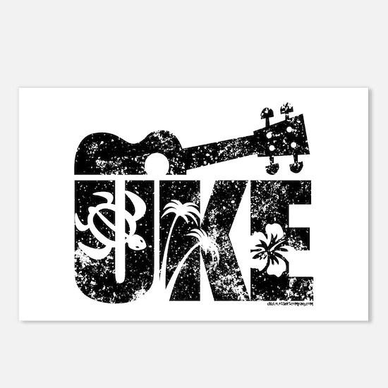 Uke Ukulele Postcards (Package of 8)
