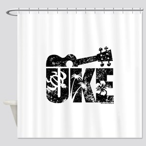 Uke Ukulele Shower Curtain