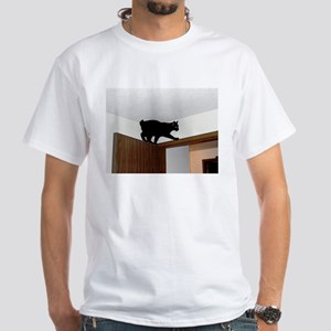 manx on door T-Shirt