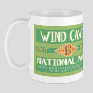 Wind Cave National Park (Retro) Mug