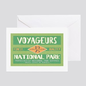 Voyageurs National Park (Retro) Greeting Card