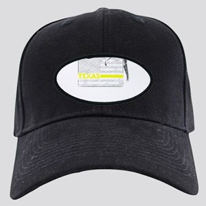 Texas Police Dispatcher Flag Black Cap with Patch