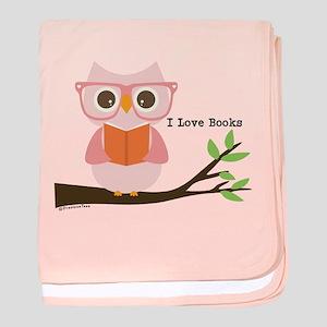 Cute Owl Reading baby blanket