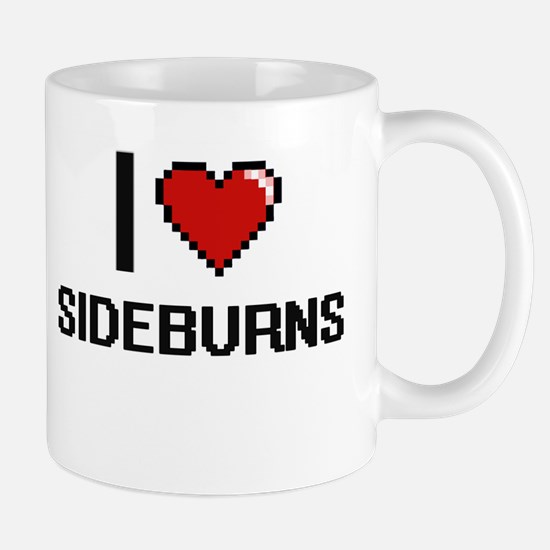I Love Sideburns Digital Design Mugs