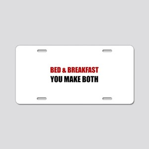 Bed And Breakfast Aluminum License Plate