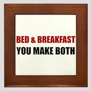 Bed And Breakfast Framed Tile