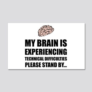 Brain Technical Difficulties Wall Decal
