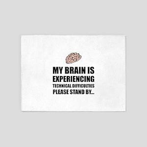 Brain Technical Difficulties 5'x7'Area Rug