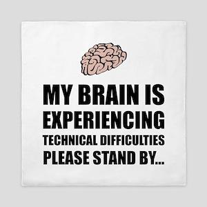 Brain Technical Difficulties Queen Duvet