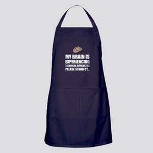 Brain Technical Difficulties Apron (dark)