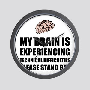 Brain Technical Difficulties Wall Clock