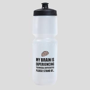 Brain Technical Difficulties Sports Bottle