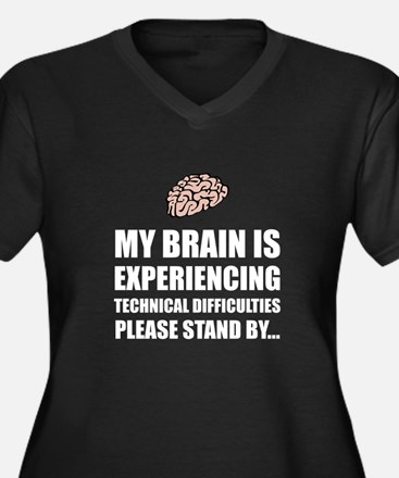 Brain Technical Difficulties Plus Size T-Shirt