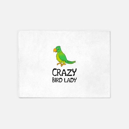 Crazy Bird Lady 5'x7'Area Rug