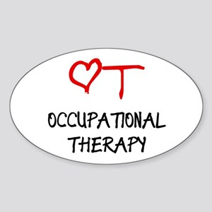 Occupational Therapy Heart Rectangle Sticker