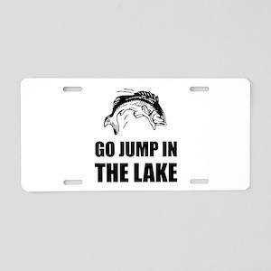 Go Jump In Lake Aluminum License Plate