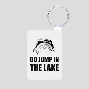 Go Jump In Lake Keychains