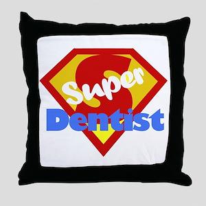 Super Dentist DDS Throw Pillow