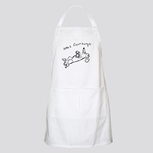 Weak from Hunger Apron