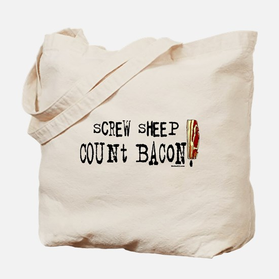 Screw Sheep Count Bacon Tote Bag