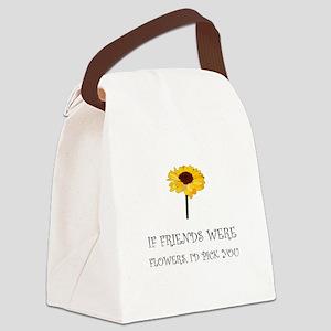 Pick Friends Flowers Canvas Lunch Bag