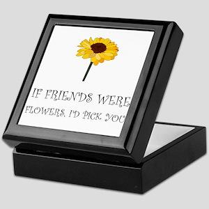 Pick Friends Flowers Keepsake Box