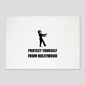 Protect Yourself From Hollywood 5'x7'Area Rug