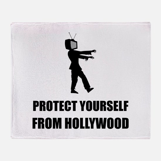 Protect Yourself From Hollywood Throw Blanket