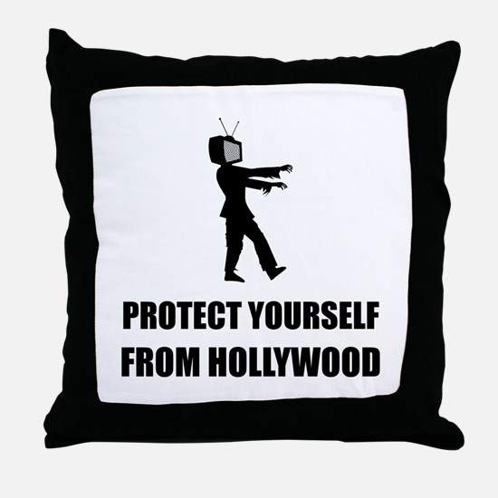 Protect Yourself From Hollywood Throw Pillow