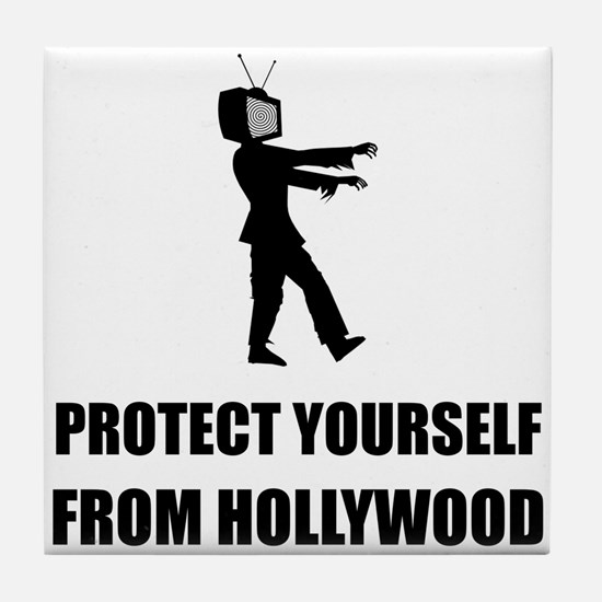 Protect Yourself From Hollywood Tile Coaster