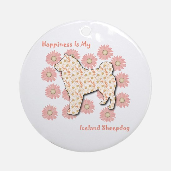 Sheepdog Happiness Ornament (Round)