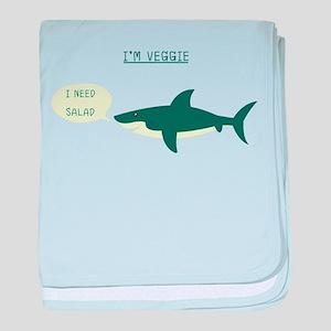 Veggie Shark baby blanket
